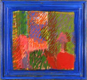Howard Hodgkin, A Visit to Paul and Bernard, 1990, 132.5 x 144cm, oil on wood © The Estate of Howard Hodgkin