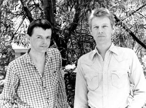 A photo of Paul Hallam and Ron Peck taken at Cannes when we showed NIGHTHAWKS there