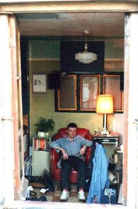 A photo Ron Peck took of Paul in his room at Four Corners