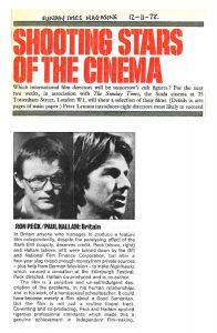 A Sunday Times piece on Ron Peck & Paul Hallam